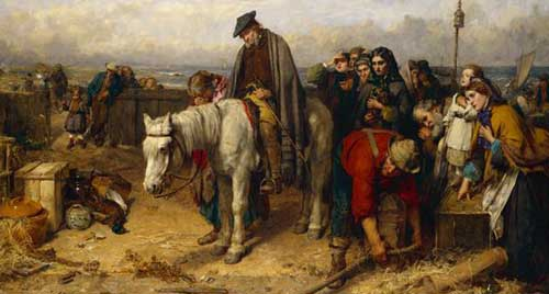 painting of highland clearances