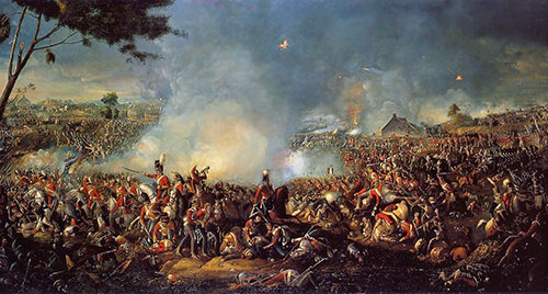 famous painting of the Battle of Waterloo