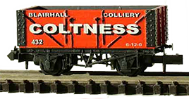 model of a Coltness freight wagon