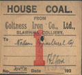 train coal label