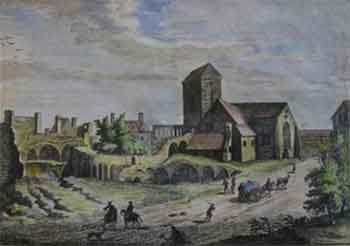 picture of Culross Abbey in the mid 18th century