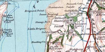 map showing location of Hunterston