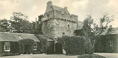 an old print of Hunterston castle