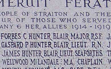 Hunter Blair memorial at St Cuthberts, Straiton